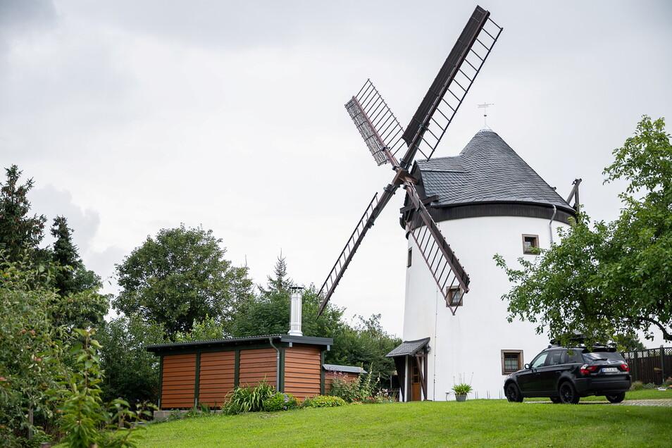 Die Windmühle in Sohland am Rotstein.