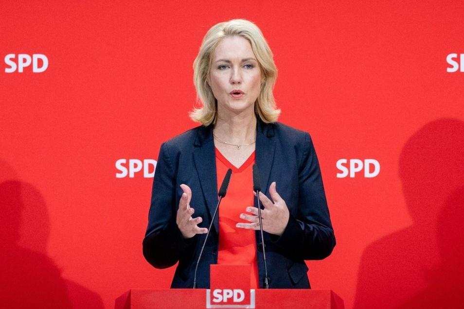 Manuela Schwesig (SPD), Ministerpräsidentin von Mecklenburg-Vorpommern, hat ihren Parteiposten niedergelegt.