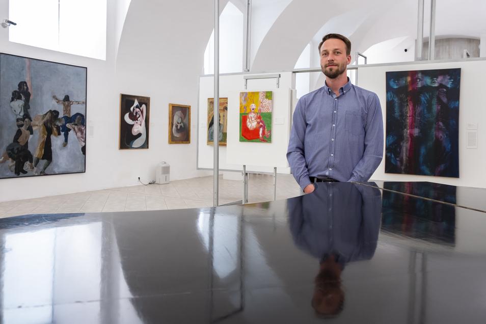 Galerie der modernen Kunst in Roudnice nad Labem. Im Bild Galerist Miroslav Divina.