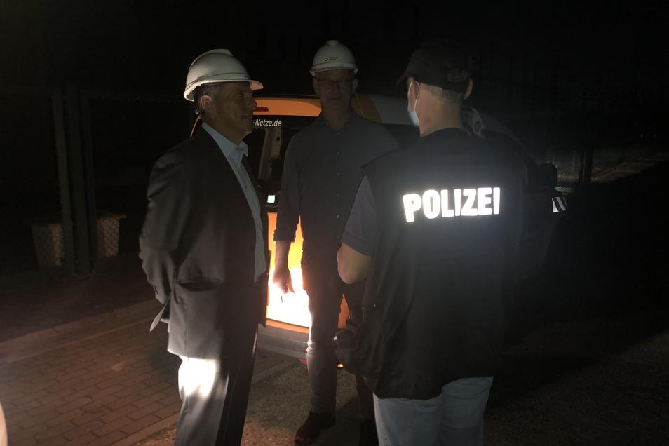 Die Kriminalpolizei hat am Montagabend die Ermittlungen zum Stromausfall in Dresden aufgenommen.