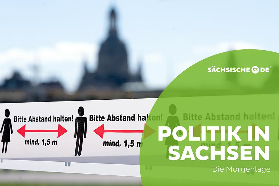 Abstand halten - das gilt in Sachsen wegen der Corona-Pandemie schon seit Monaten. Die Unzufriedenheit mit dem Krisenmanagement der Landesregierung aber wächst.