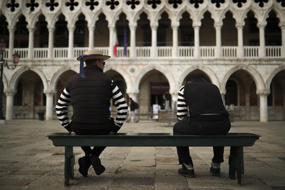 Italien (hier Venedig) leidet besonders unter den Folgen der Pandemie. Der Tourismus bricht weg.
