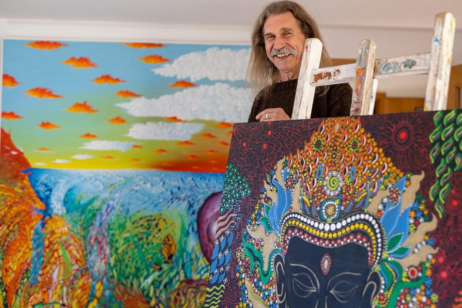Ausstellungseröffnung in den Heimatstuben Schellerhau mit dem Künstler Lasco Djuric.