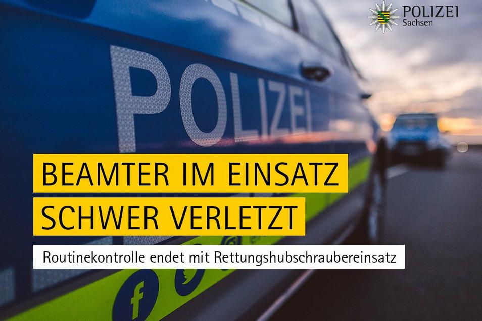 So berichtete Sachsens Polizei über den Unfall, bei dem ein Beamter des Reviers Kamenz schwer verletzt wurde. Sein Kollege Robert Hoppe startete daraufhin einen Spendenaufruf - mit großer Resonanz.