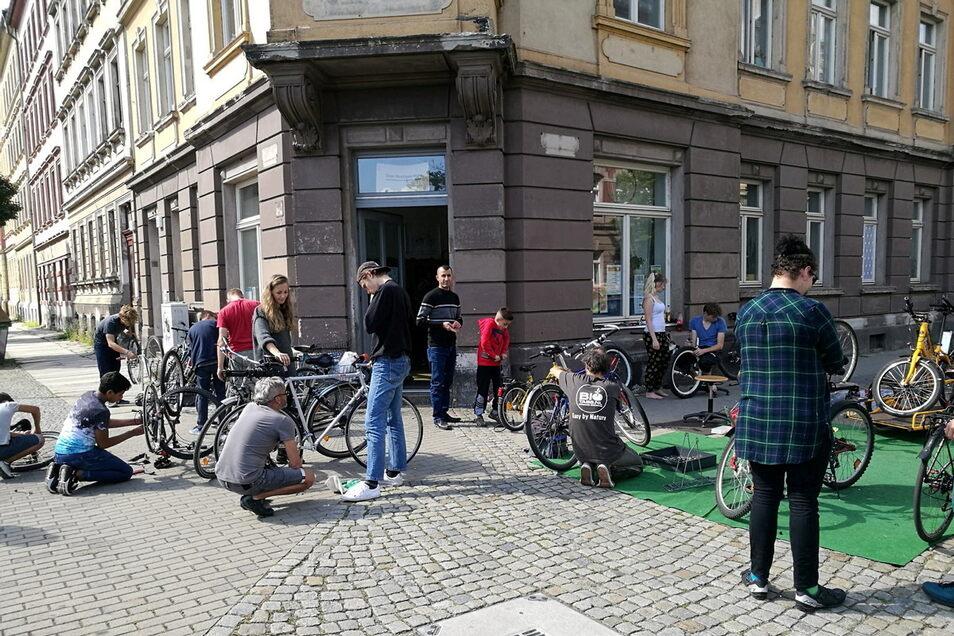 So sieht es normalerweise in der Selbsthilfewerkstatt in Dresden-Friedrichstadt aus.