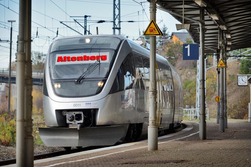 Die MRB streicht ihren Fahrplan zusammen. So wurde etwa die als Wanderexpress bekannte Linie zwischen Dresden uns Altenberg bis zum 19. April ganz eingestellt.