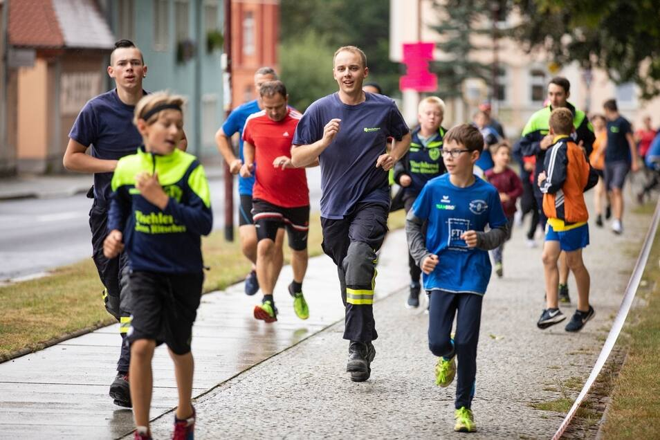 Ein Bild aus dem vergangenen Jahr: 306 Läufer waren am 7. September 2019 beim Benefizlauf in Bischofswerda am Start.
