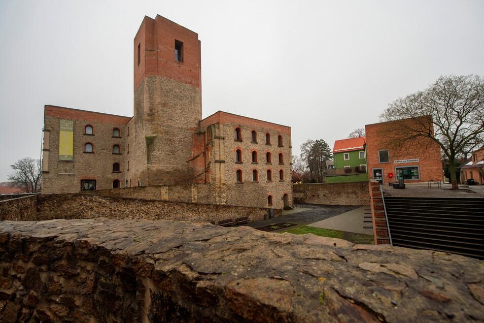 Beliebter Aussichtspunkt für Großenhainer Besucher: der Bergfried des Kulturschlosses.