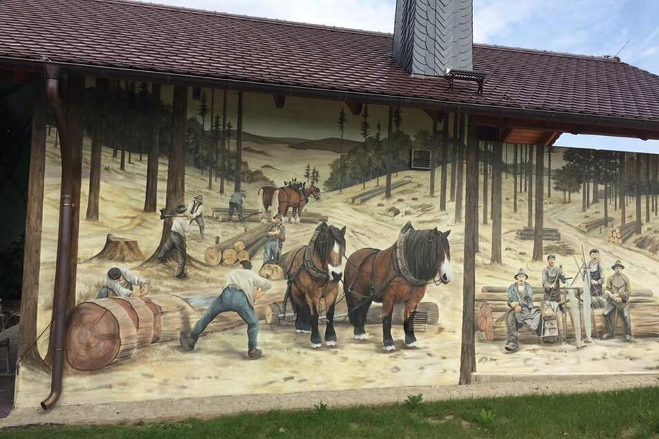 Im Auftrag des Unternehmens Forstdienstleistung Schiemann entstand dieses Bild in Goldbach.