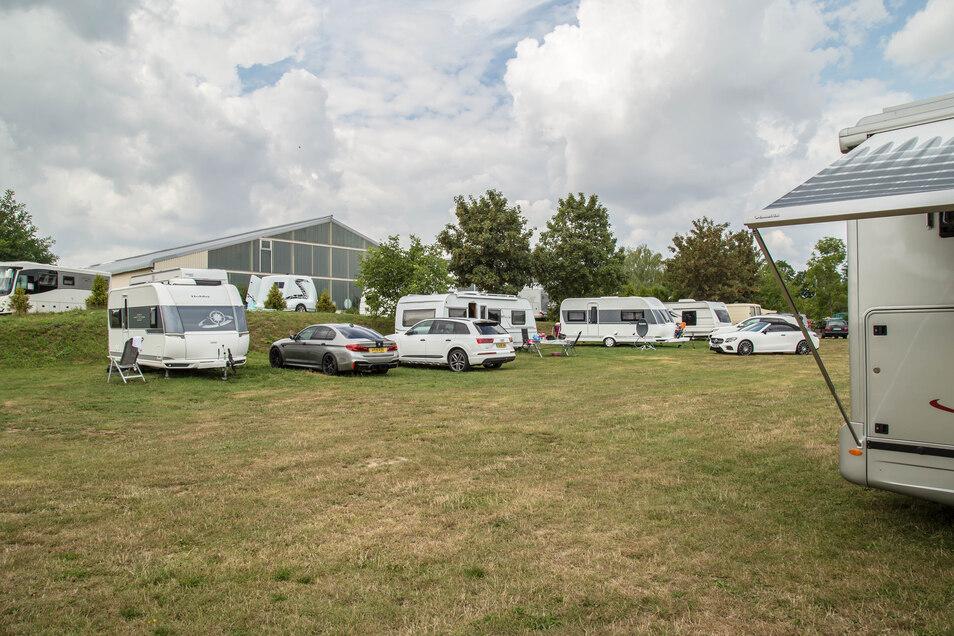 Der Campingplatz am Rosenhof in Biesnitz ist einer der größten in der Region. Weil so viel Platz ist, müssen sich Camper hier nicht anmelden.