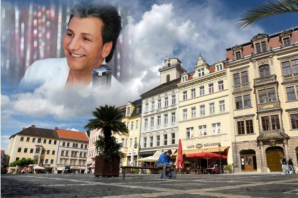 Oliver Frank wird am Montag auf dem Marktplatz in Zittau auftreten.
