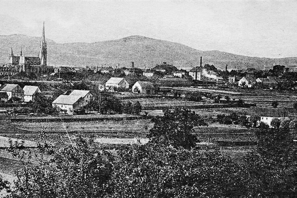 Wie sich das Zittauer Straßennetz durch Gärtnersiedlungen ausdehnte, verdeutlicht dieses Foto. Es zeigt Gärtnerhäuser nördlich der Görlitzer Bahn auf einer Ansichtskarte um 1900.