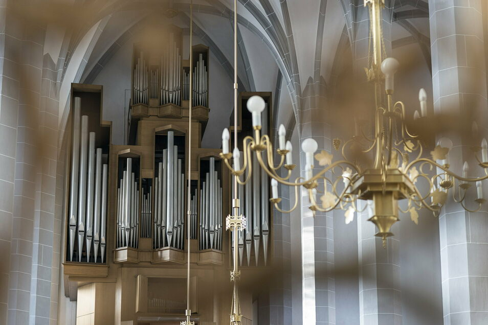 Die sanierte Schuster-Orgel in der Görlitzer Frauenkirche.