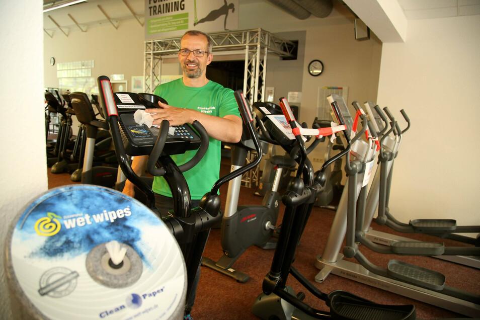 Andreas Wende bereitet in seinem Fitnessclub die Tour der Hoffnung vor. Dieses Mal läuft sie mit einigen Besonderheiten.