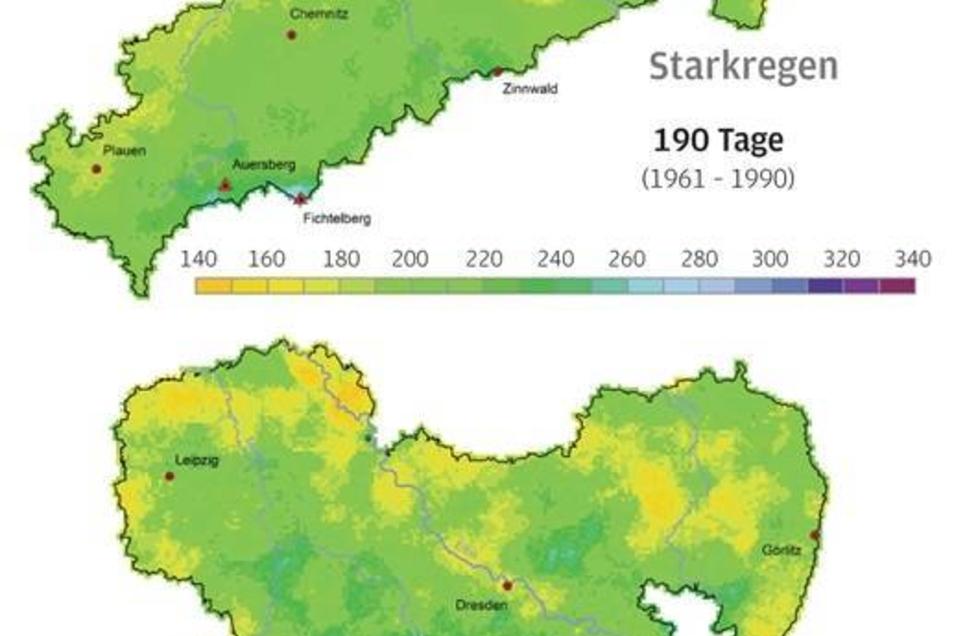 Wenn Wasser, dann aber richtig Gemütlicher Landregen wird selten. Jetzt gibt es Starkregen, im Durchschnitt fast siebenmal im Jahr. Die größte Zunahme der Extremwetter findet im Gebirge statt, dort, wo schon bislang die meisten Starkniederschläge niedergingen. Genau dort hat zudem auch noch die Stärke der Regengüsse zugenommen. Letztlich verteilt sich das nicht etwa aufs Jahr, sondern findet fast alles im Sommer statt. Fazit: Der Flutschutz für kleine Flüsse ist in Sachsen unzureichend. Auch Kanalisationen müssen ausgebaut werden.