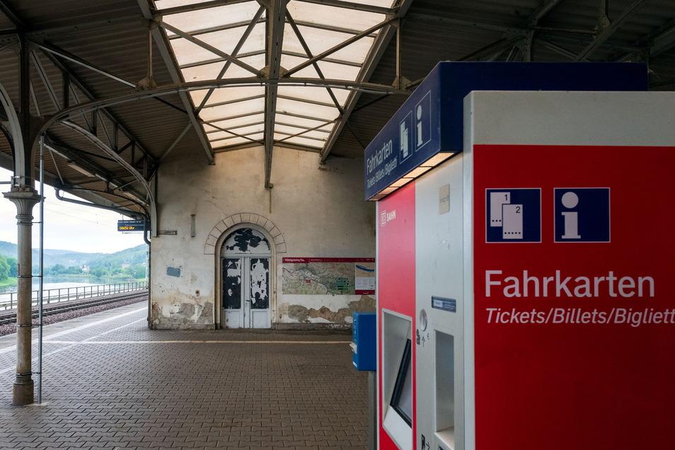 Das ehemalige Empfangsgebäude am Bahnhof in Königstein ist wenig einladend. Das will die Stadt ändern.