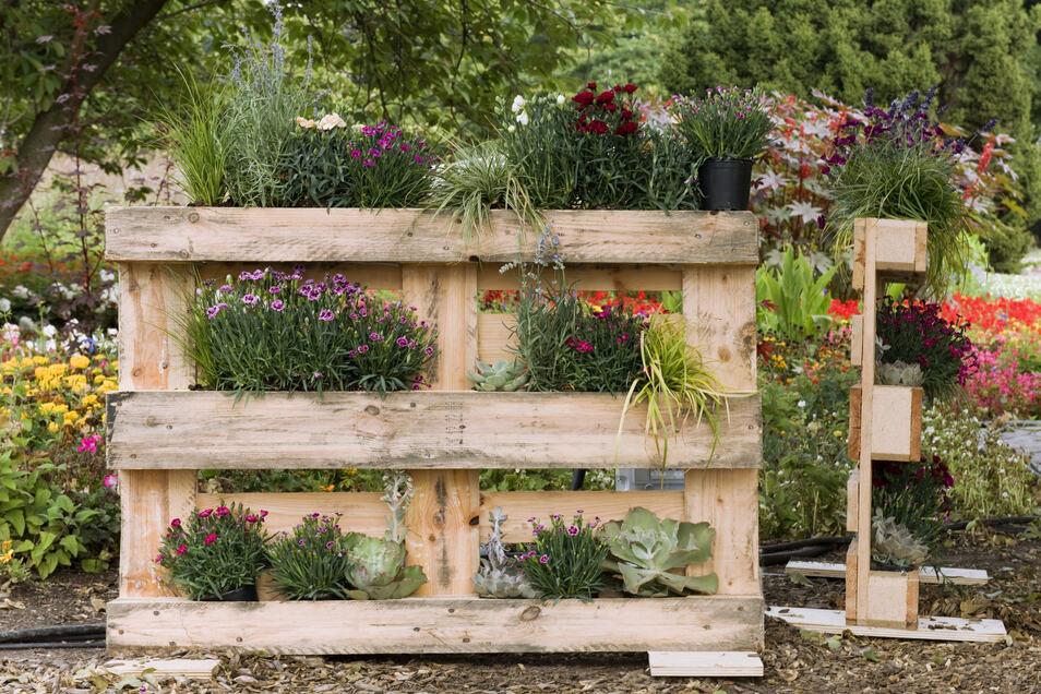 Mit dem nötigen handwerklichen Geschick lässt sich ein Mini-Garten in Eigenregie bauen.