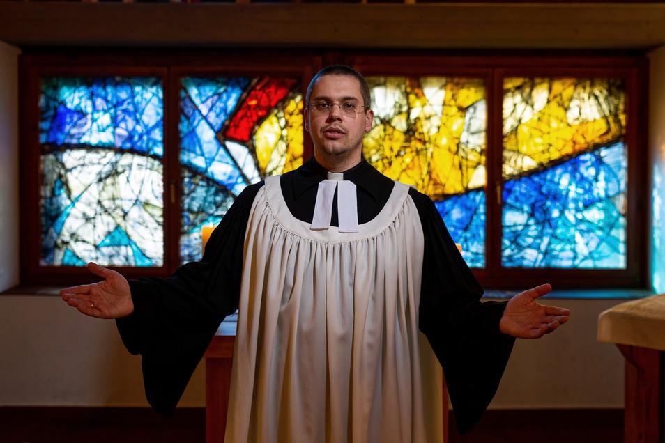 Altenbergs Pfarrer David Keller musste harte Entscheidungen treffen.