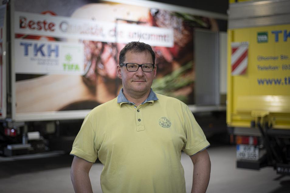 Die Zwangspause in der Gastronomie trifft auch den Tiefkühlkost-Fachgroßhandel in Hauswalde. Bei Betriebsleiter René Hertelt gehen kaum noch Bestellungen ein.