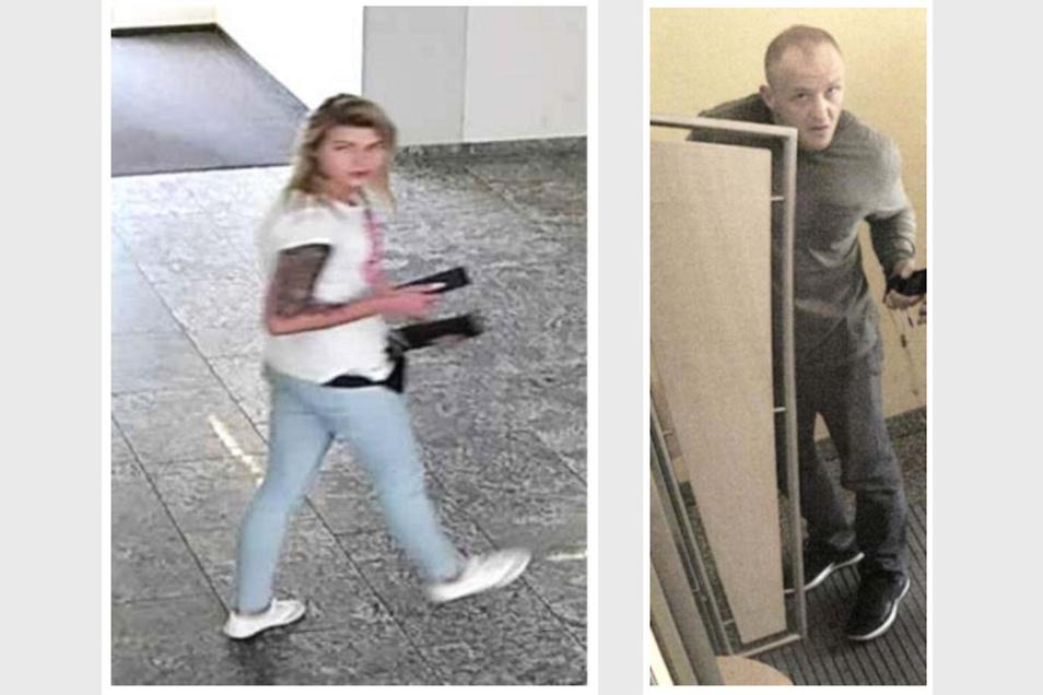 Am 22. September wurden diese beiden Tatverdächtigen in Niesky von einer Kamera aufgenommen.