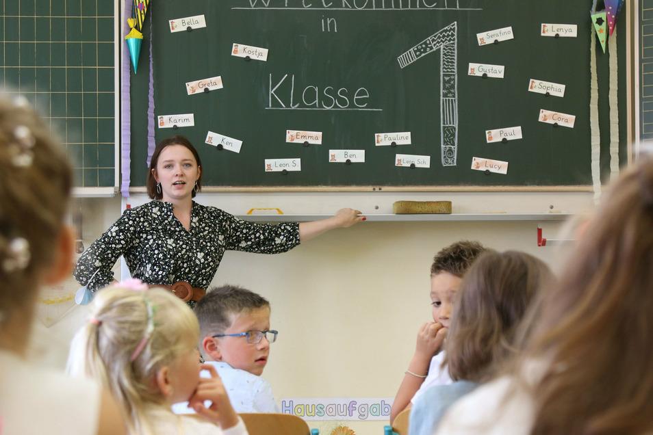Schulanfang Grundschule Grünlichtenberg.