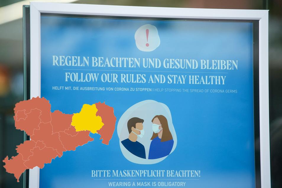 In Sachsen gelten aktuell teils unterschiedliche Regeln hinsichtlich der Maskenpflicht.
