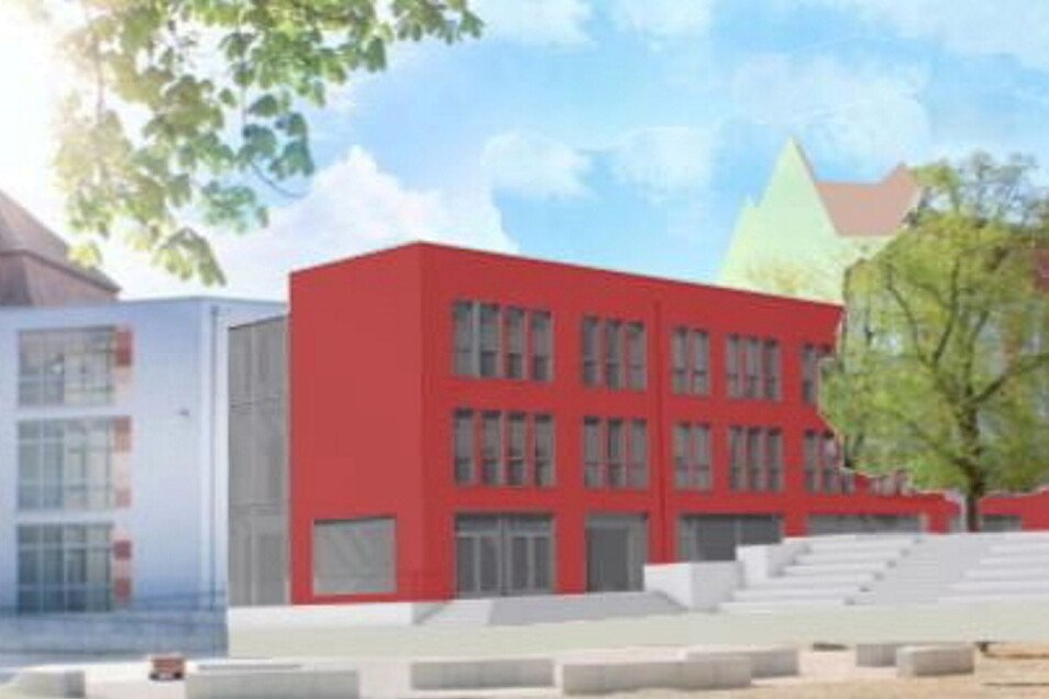 So soll das Schulhaus C1 nach den Entwürfen des Architekten aussehen.