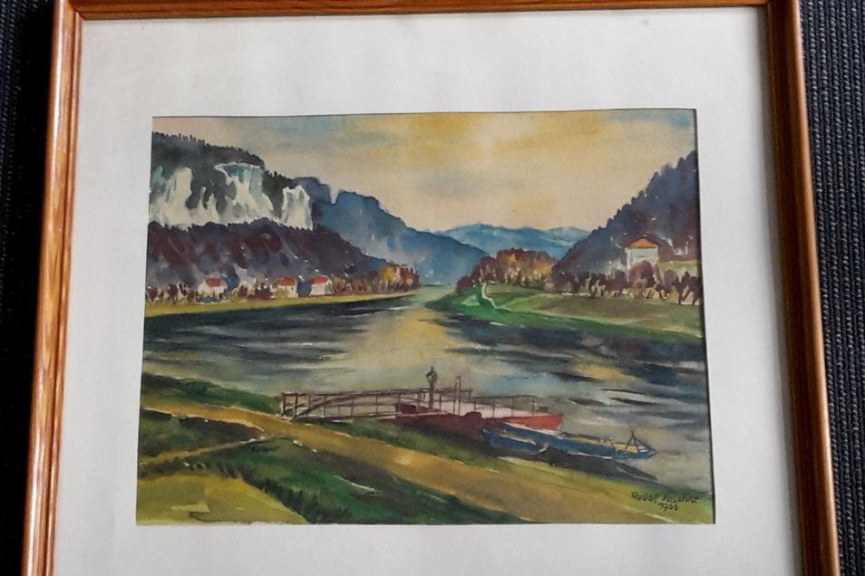 Diese Bild des Malers Rudolf Peschke überlebte jeden Umzug. Doch ein Rätsel bleibt.