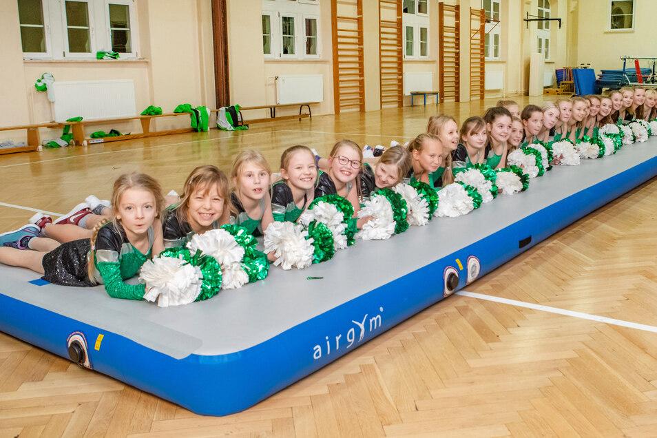 Ein Beispiel der Vereinsförderung ist die Air-Treck-Matte, die der Verein Cheer & Dance bekommen hat. Das Gerät kostete etwa 3.500 Euro.Neben dem Landes- und Kreissportbund hat auch die Stadt Waldheim einen Teil der Summe beigesteuert.
