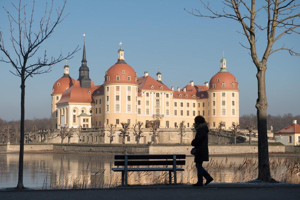 Ab 23. März geht es in einer Sonderschau im Schloss Moritzburg um Ledertapeten.