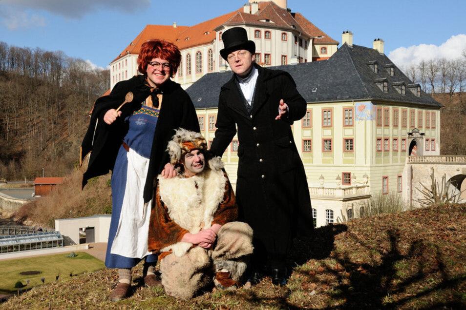 Auf Schloss Weesenstein gibt es Kindertrubel beim Hexenfasching.