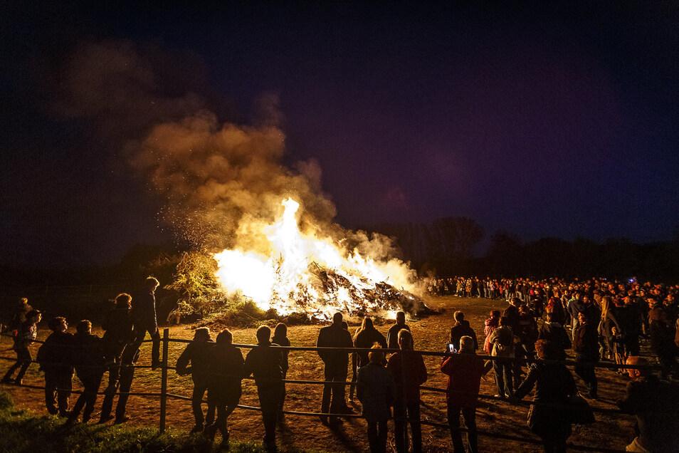Ein Osterfeuer gibt es in diesem Jahr in Jauernick-Buschbach bei Görlitz nicht.