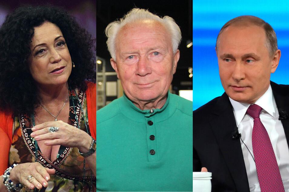 Prominente Gäste: Schauspielerin Barbara Wussow, DDR-Kosmonaut Sigmund Jähn und Russlands Präsident Wladimir Putin (v.l.) sind nur einige der bekannten Gesichter, die schon in Rammenau zu Besuch waren.