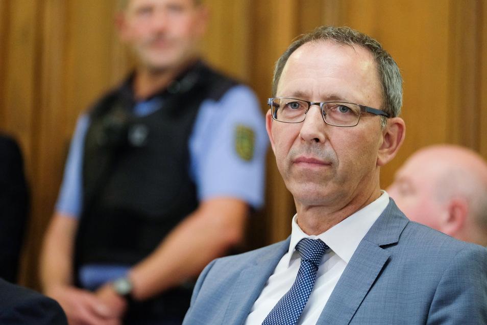 Jörg Urban, Landesvorsitzender der sächsischen AfD, während der Verhandlung.