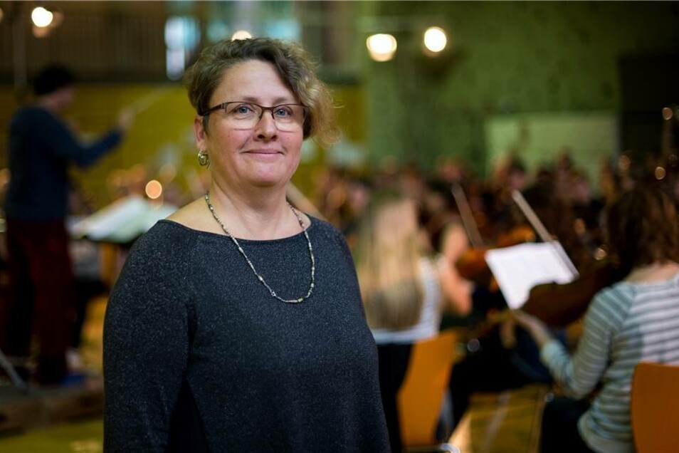 Ulrike Kirchberg, Betreuerin des Landesjugendorchesters Sachsen.