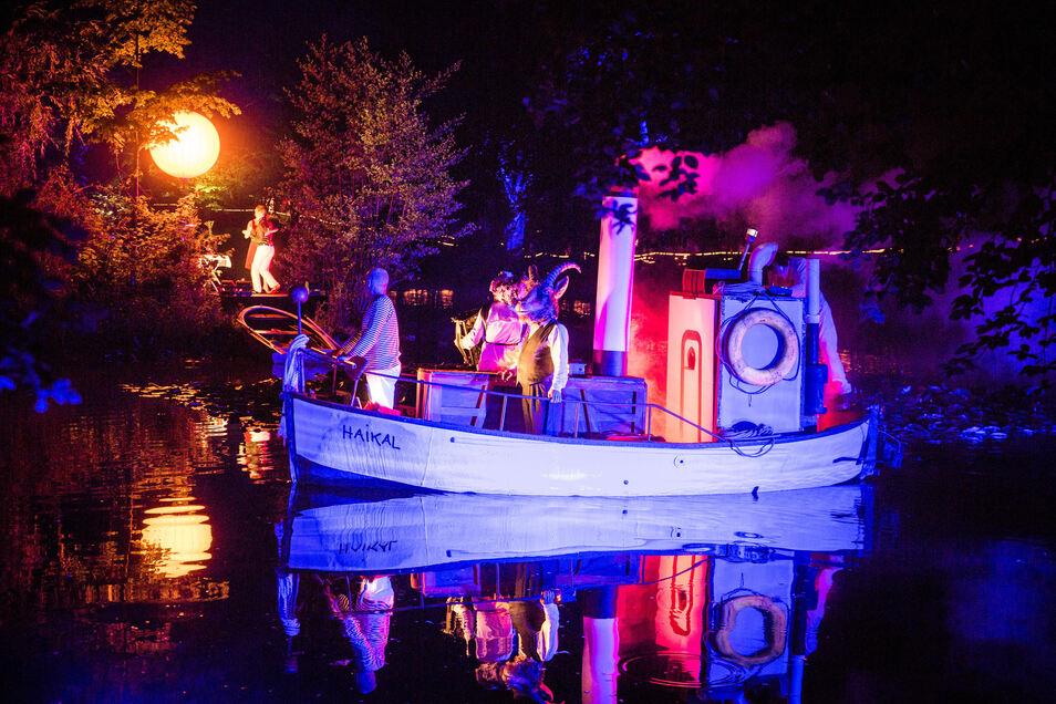Inszenierung am Teich