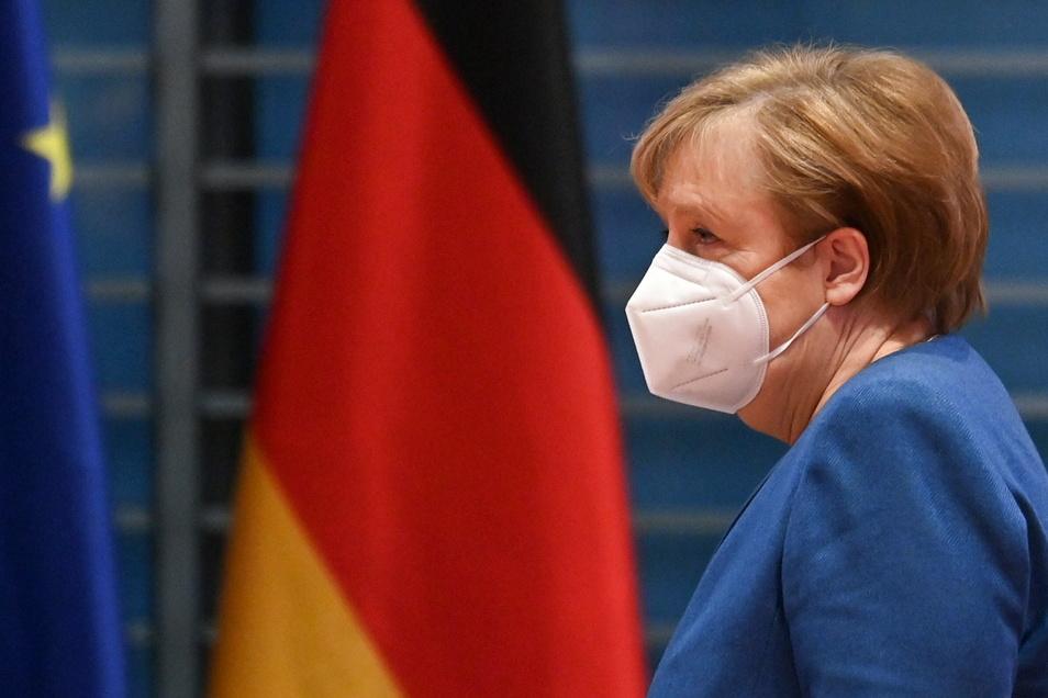Bundeskanzlerin Angela Merkel sieht die Trump-Sperrung auf Twitter kritisch.