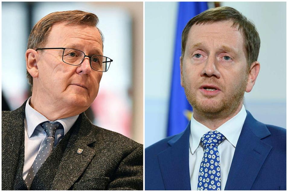 Thüringens Ministerpräsident Bodo Ramelow (Linke) empfindet die Lockerungen nicht als Fehler. Anders sieht das sein sächsischer Amtskollege Michael Kretschmer (CDU).