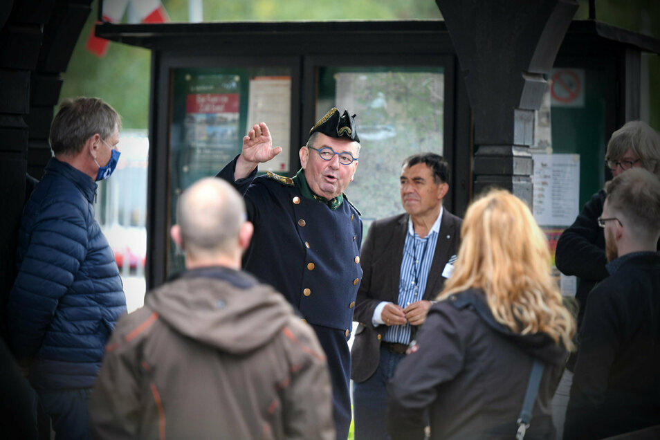 Alfred Simm berichtete den City Managern über die Erfolgsgeschichte der Zittauer Schmalspurbahn und wie sie inzwischen fest mit tschechischen Kunden rechnen können.