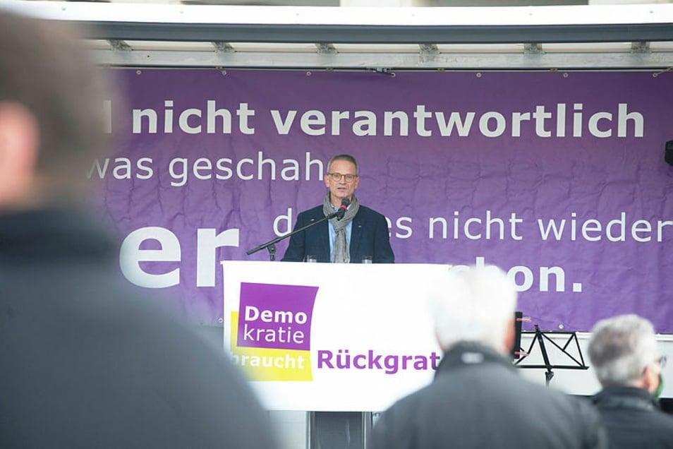CDU-Kreischef Markus Reichel sagte am Sonntag auf dem Altmarkt, der Rückhalt für die Spalter in Dresden bröckele.