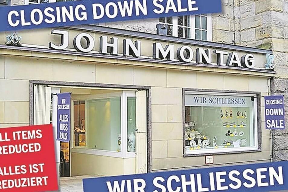 Ende eines Traditionsgeschäfts: Die Inhaber des Porzellan-Fachgeschäfts John Montag in Hamburg möchten sich zur Ruhe setzen. Quelle: Screenshot Netzseite John Montag