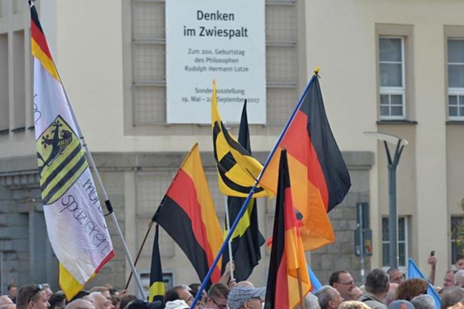 Im April gab es eine Demonstration der AfD auf dem Bautzener Kornmarkt.