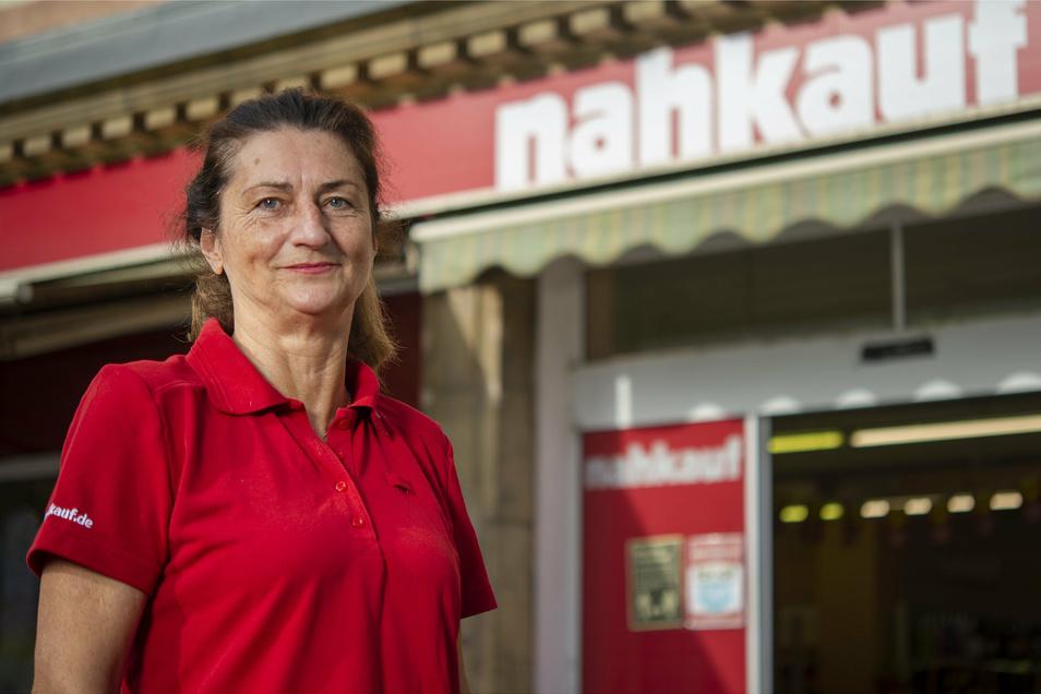 Margret Hütter ist die Geschäftsführerin von Nahkauf in Pirna in der Breiten Straße.