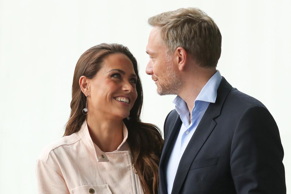 FDP-Chef Christian Lindner und seine Partnerin, RTL-Journalistin Franca Lehfeldt
