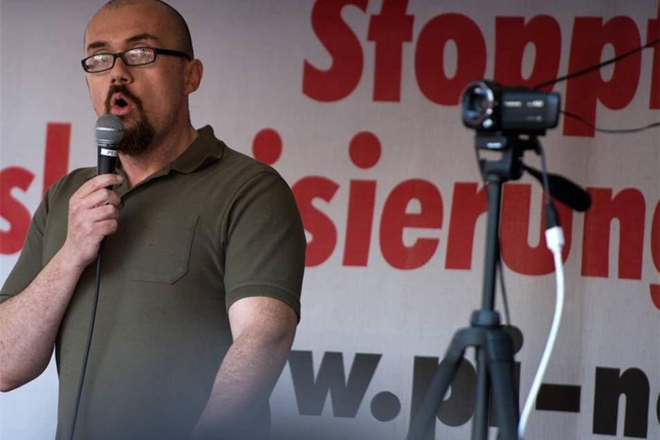 Der Islamwissenschaftler, Publizist und Politiker, Hans-Thomas Tillschneider (AfD), darf auch sprechen.