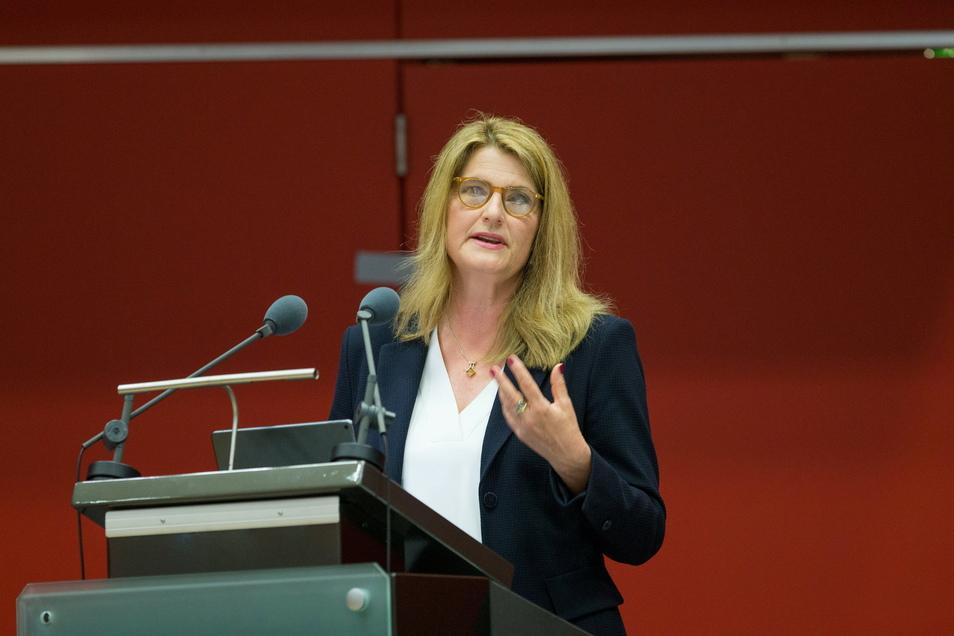 Die Leiterin des ARD-Hauptstadtstudios, Tina Hassel