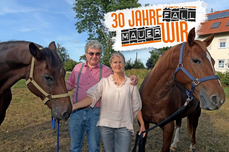 Seit 2003 sind Marlies Hieke und Timotheus Kapfer ein Paar. Die Liebe zu Pferden brachte den Schwaben und die Sächsin zusammen. Aber auch eine gewisse Weltoffenheit verbindet die beiden.
