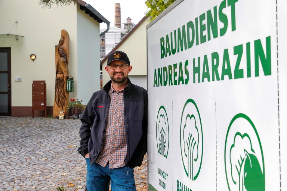 Andreas Harazin hat sein Baumdienst-Unternehmen um zwei weitere Geschäftsfelder erweitert.