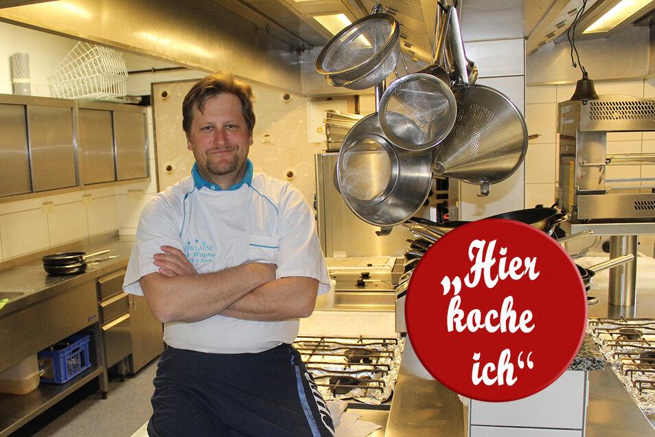 In der Elbklause in Niederlommatzsch kocht der Chef noch selbst. Doch zurzeit ist Erik Wagner in seiner Küche ganz allein.