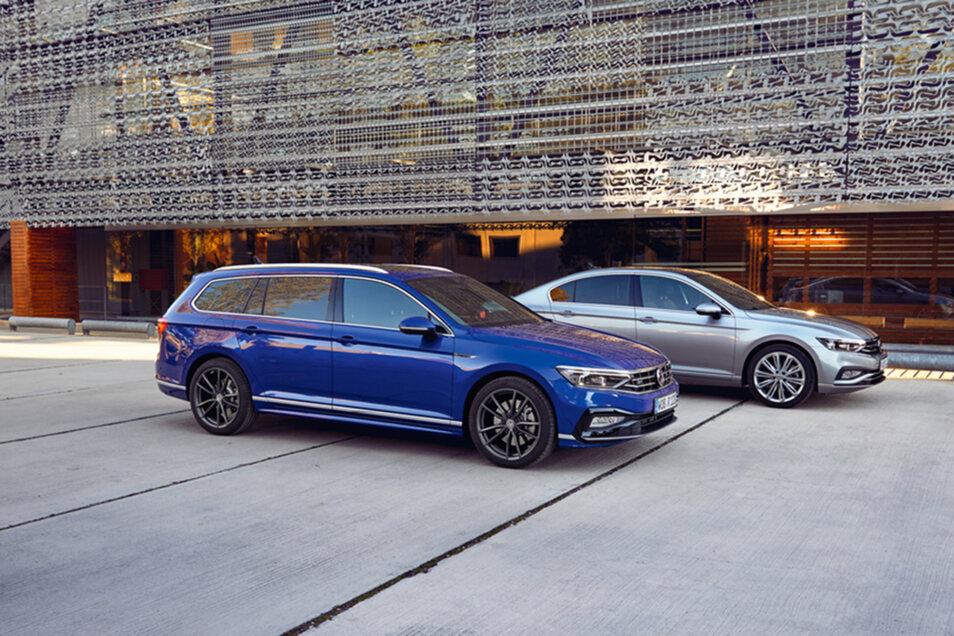 Durchstarten leicht gemacht – mit dem neuen Volkswagen Passat als Limousine oder Variant.